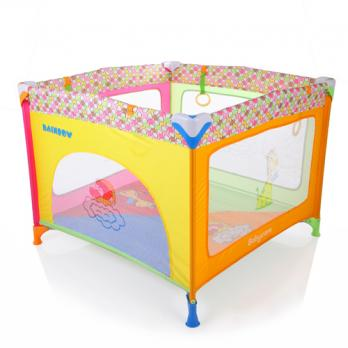 P02-F-Манеж  детский  Rainbow Babe Care (радуга)   Б37