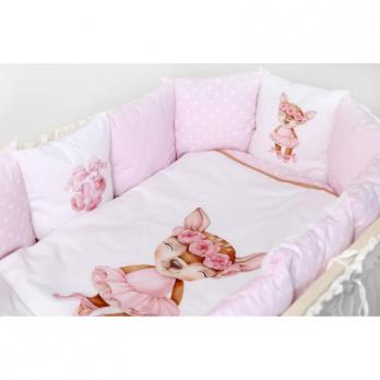 Комплект в кроватку Lappetti Балерина  с подушечками 6 пр  6068