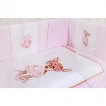 Комплект в кроватку Lappetti «Балерина» 6 пр