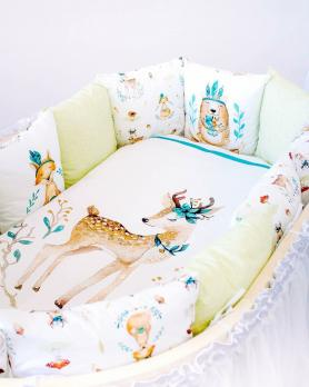 Комплект в кроватку Lappetti «Волшебный лес»  Подушечки  6 пр