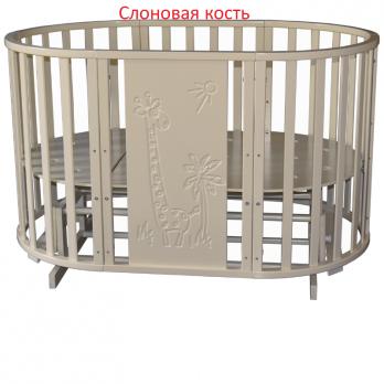 """Кроватка трансформер """"Северянка 3  """"ЖИРАФ"""" 6-в-1  2 маятника (Б874)"""