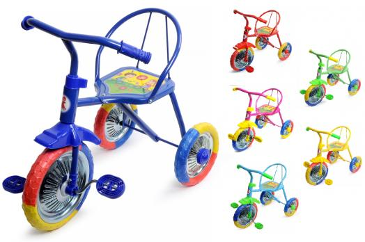 """LH700-Велосипед трехколесный, 3-х цветные ПВХ колеса  """"Семечки""""  Б73"""