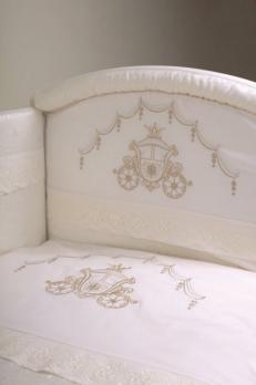 3001- Комплект в кроватку Lappetti Инфанты Карета 3 предмета  (Б18)