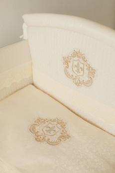 3002- Комплект в кроватку Lappetti Инфанты Корона 3 пр. Бежевый (Б18)