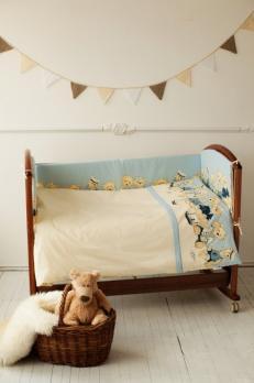 3005- Комплект в кроватку Lappetti «Морячки» 3 предмета  (Б134)