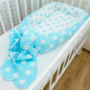 ГБ-01-Подушка Гнездышко  для новорожденных с бантом   ГБ-01  (ПР7)