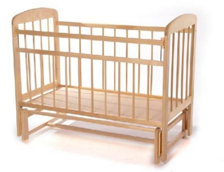 """Кроватка детская """"Мишутка-11"""" маятник, без ящика"""