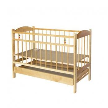 Кроватка  детская Репин Мишутка 14 колесо-качалка с ящиком  Б21