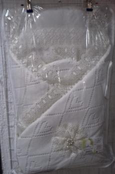 """9504- Одеяло на выписку""""Кружево""""  (зима 300гр)  95х95"""
