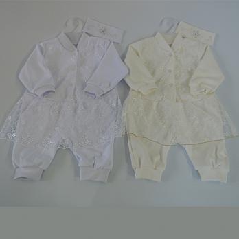 0174- Крестильный набор для девочки трикотаж