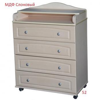 Комод МДФ  пеленальный   80 см. 4 ящика