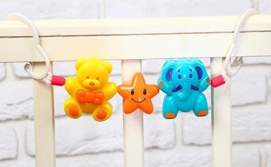 3601760- Растяжка на коляску/кроватку «Мишка, звезда, слоник»
