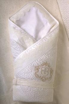 1001- Конверт-одеяло Lappetti Инфанты (герб, мех-вкладыш, сатин)